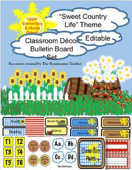 Country Classroom Decor - Upper Grade
