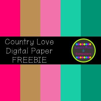 Country Love Digital Paper Sampler