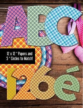 Country Plaid Alphabet in Stitches – Latin Letters – Patte