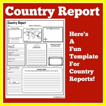 Country Research | Country Report Template | Country Report Form