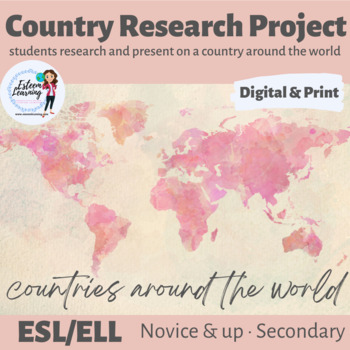 Country Research Activity - ESL/ELL/ELD