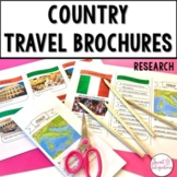 COUNTRY RESEARCH TRAVEL BROCHURE Editable Templates