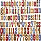 Country Western Alphabet and Number Clipart (02) by Poppydreamz