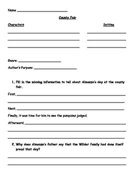 County Fair Worksheets
