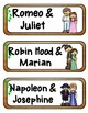Couples of Myth, Legend, and History Mini Fold-Ems, GOs an