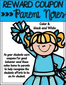 Coupon Rewards Parent notes