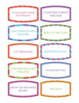 Coupons for Classroom Management