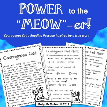 Courageous Cat: a Reading Passage Inspired by a True Story