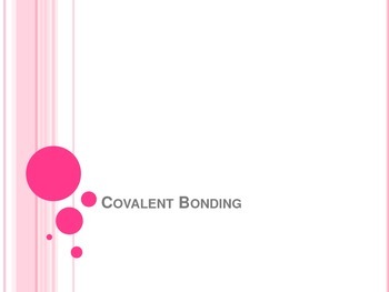Covalent Bonding Notes - Interactive Notebook