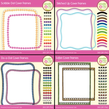 Cover Frame Bundle #1: Square and Rectangle Clip Art Frame