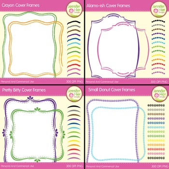 Cover Frame Bundle #2: Square and Rectangle Clip Art Frame