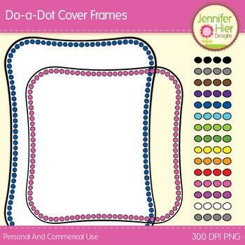 Cover Frames: Square and Rectangle Do-a-Dot Clip Art Frame