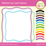 Cover Frames: Square and Rectangle Stitched Up Style Art F