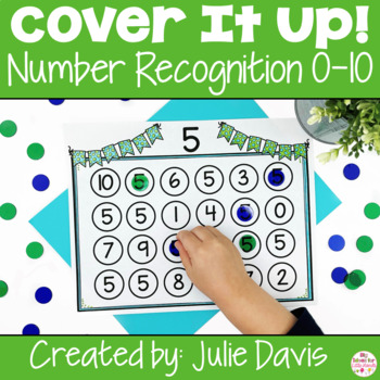 Cover It Up Number Recognition Identification 0-10