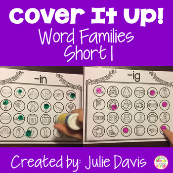 Cover It Up Word Families Short I