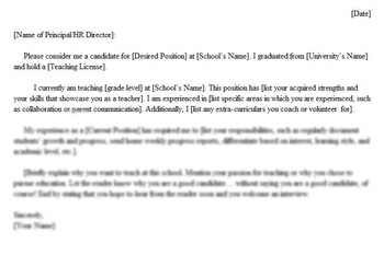 Cover Letter : Editable Example
