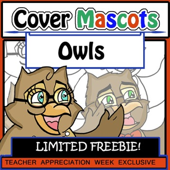FLASH FREEBIE Owls (4 pc. Clip Art!) Detailed and Designed
