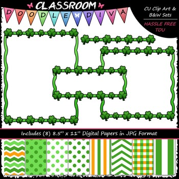Cover Page Kit (Mar.) - St. Patrick's Day - CU Clip Art, B