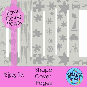 Printable Pages with Borders- Shape Borders ready to Color