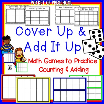 Counting & Addition Game - Cover Up for Preschool, Pre-K,