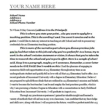 Cover letter for job hunting!