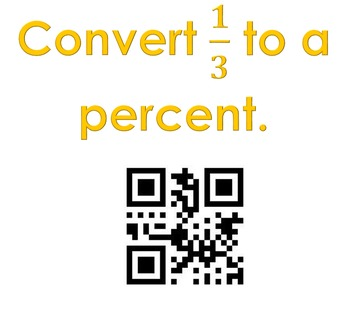 Covert, Compare and Order FDP QR Code Activity