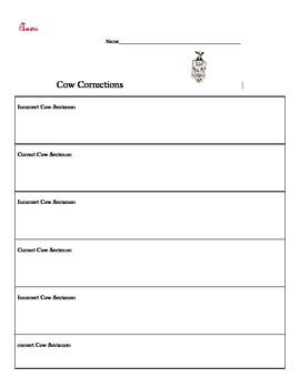 Cow Corrections