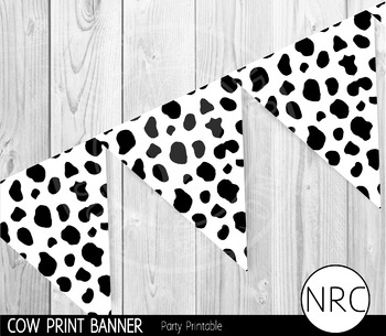 Cow Print Banner - Party Printable