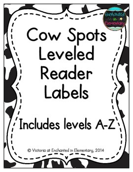 Cow Spots Leveled Reader Labels