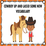 Cowboy Adapted Book Vocabulary Special Education