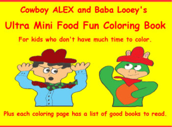 Cowboy Alex's Mini Coloring Book with Book Ideas For Story