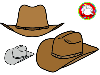 Cowboy Hat Clipart (Personal & Commercial Use)