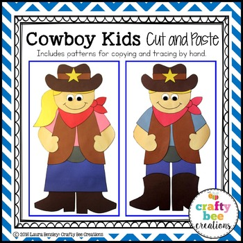 Cowboy Kids Cut and Paste