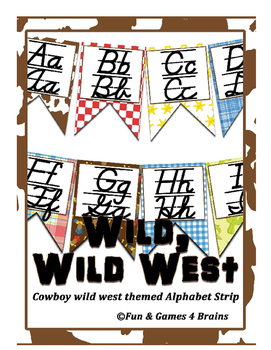 Cowboy Rodeo Wild West themed D'Nealian manuscript and cur