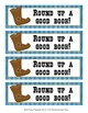 Cowboy Western Theme Bookmarks