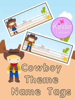Cowboy Theme Name Tags