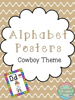 Cowboy Themed Alphabet Posters