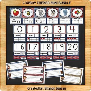 Cowboy Themed Mini Bundle