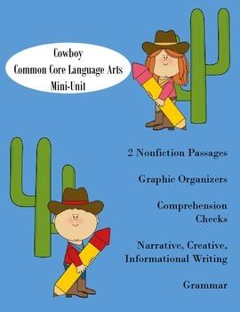 Cowboys: A common core langue arts mini-unit