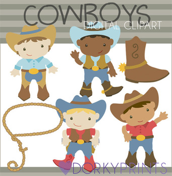 Cowboys Digital Clip Art