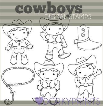 Cowboys Digital Line Art