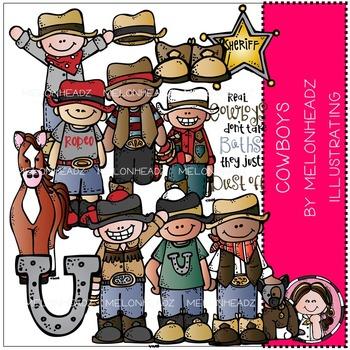 Melonheadz: Cowboys clip art - COMBO PACK
