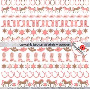 Cowgirls Brown & Pink Borders by Poppydreamz