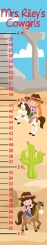 Cowgirls Classroom Growth Chart
