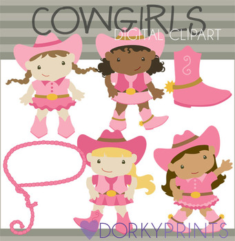 Cowgirls Digital Clip Art