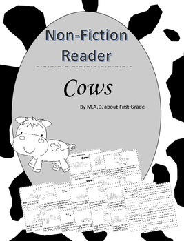 Cows Nonfiction Reader with CLOSE Activities