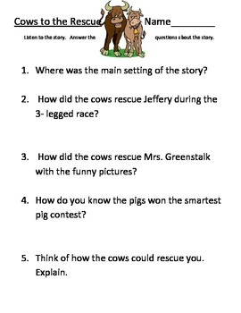 Cows to the Rescue Comprehension