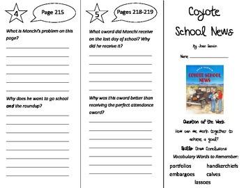 Coyote School News Trifold - Reading Street 4th Grade Unit