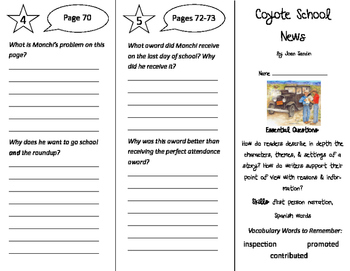 Coyote School News Trifold - ReadyGen 4th Grade Unit 4 Module A
