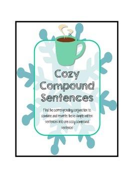 Cozy Compound Sentences Center Activity